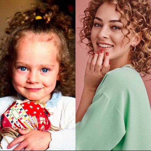 Аглая Тарасова в детстве